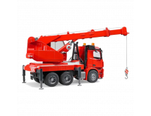 Mašīna BRUDER MBArocs Fire Engine Crane Truck w.light MBArocs Fire Engine Crane Truck w.light