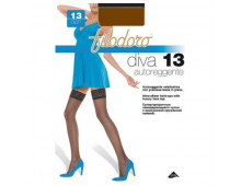 Чулки FILODORO Diva 13 Autoreggente Moka Diva 13 Autoreggente Moka