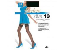 Чулки FILODORO Diva 13 Autoreggente Platino Diva 13 Autoreggente Platino