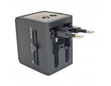 Adapteris ELECTRALINE Travel Adap+USB Travel Adap+USB