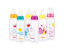 Pirkt Pudelīte NUBY Feeding Nurser Bottle 240ml (1.2.3 flow) ID1486 Elkor