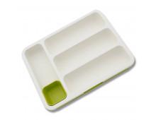 Buy Cutlery Tray JOSEPH JOSEPH Drawer Store Cutlery White/Green 85041 Elkor