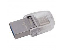Купить USB Flash память KINGSTON 64GB DataTraveler microDuo 3C USB3.0/3.1+Type-C DTDUO3C/64GB Elkor