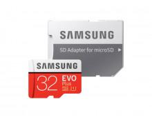 Memory Card SAMSUNG 32GB MicroSDHC EVO+ Class 10 32GB MicroSDHC EVO+ Class 10