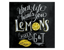 Buy Napkins PPD Blackboard Lemons 1332462 Elkor