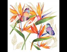 Napkins PPD Parrot Flower Parrot Flower