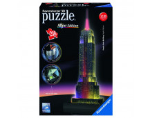 Pirkt 3D puzzle RAVENSBURGER Empire State Building with Lights R12566 Elkor