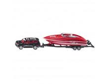 Buy Car SIKU with Motorboat 2543 Elkor