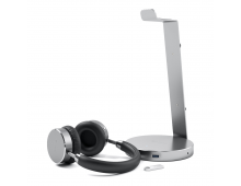 Pirkt Statīvs SATECHI Alu USB Headphones Stand Space Grey ST-AHSHU3M Elkor