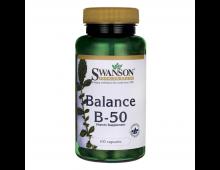 Pirkt Vitamīni SWANSON Balance B-50 100 Caps SW057 Elkor