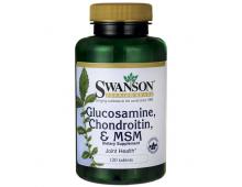 Pirkt Vitamīni SWANSON Gluc Chond Msm 250/200/150 120 Tabs SW1009 Elkor