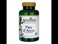 Pirkt Uztura bagātinātājs SWANSON Pau D'arco 500 Mg 100 Capsules SW424 Elkor