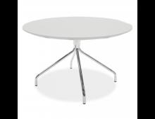Купить Журнальный столик TENZO Lola Top White + Leg Chrome 9009366001+9349091 Elkor