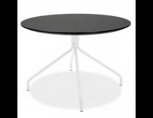 Купить Журнальный столик TENZO Lola Top Black + Leg White 9009366024+9349801 Elkor