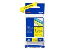Buy Laminated adhesive tape BROTHER TZ641 18 Black on Yellow 8m TZE641 Elkor