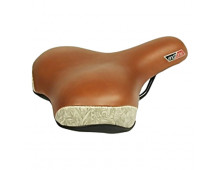 Купить Вело седло VELO Endzone Logo Women Brown VL-6142 Elkor