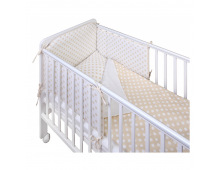 Protective bumpers for cribs YAPPY KIDS Yappy Beige Yappy Beige