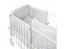 Protective bumpers for cribs YAPPY KIDS Shades of Grey Shades of Grey
