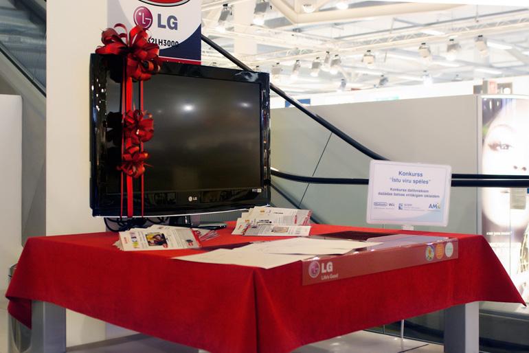 Sacensību sponsora LG dāvātais televizors gaida savu īpašnieku!