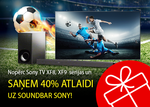 Saņem atlaidi uz soundbar Sony