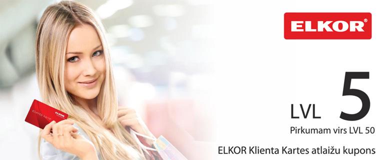 Izmanto ELKOR Pastāvīgā klienta privilēģijas!