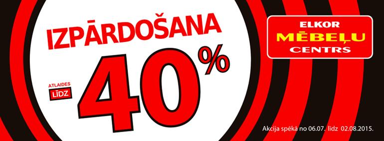 Elkor Mēbeļu Centrs Izpārdošana -40%