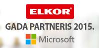 ELKOR saņem Microsoft partneru izcilības balvu 2015
