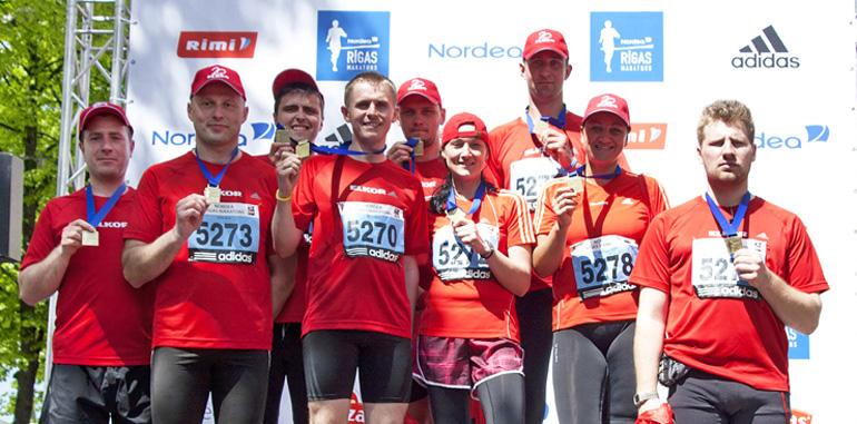 ELKOR komanda Nordea Rīgas maratonā